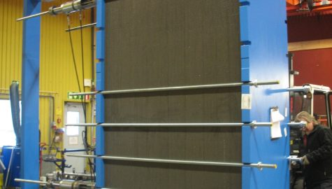 Heat exchanger for cold reservoir at the Ben Gurion University