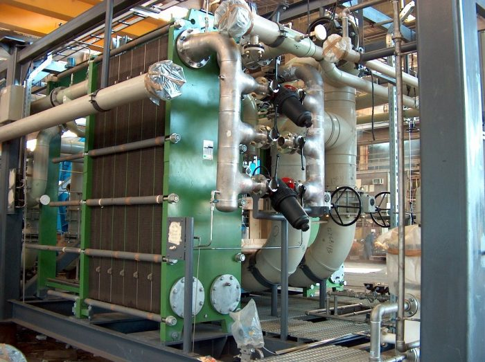 Pictured: Facilities for seawater desalination using the thermal method.